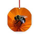 Valentine Bumblebee Ornament (Round)