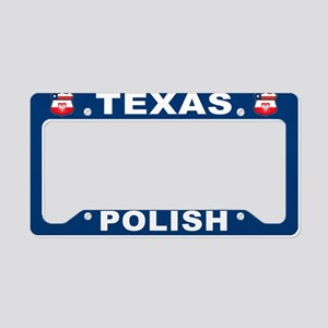 Texas Polish American License Plate Holder