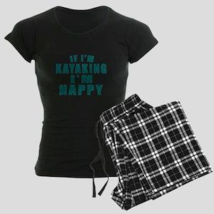 Kayaking I Am Happy Women's Dark Pajamas