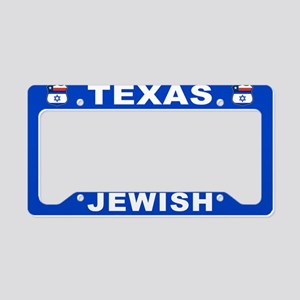 Texas Jewish American License Plate Holder