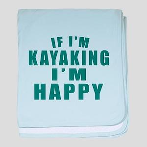 Kayaking I Am Happy baby blanket
