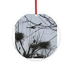 Valentine Great Blue Heron Ornament (Round)