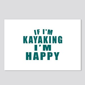 Kayaking I Am Happy Postcards (Package of 8)