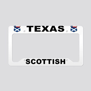 Texas Scottish American License Plate Holder