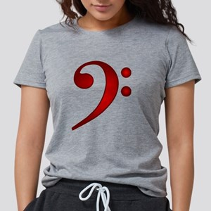 """Metallic"" Red Bass Clef T-Shirt"