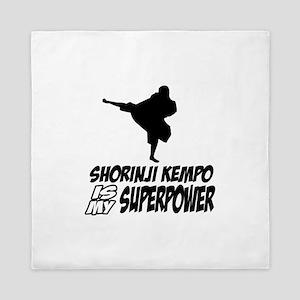 Shorinji kempo is my superpower Queen Duvet