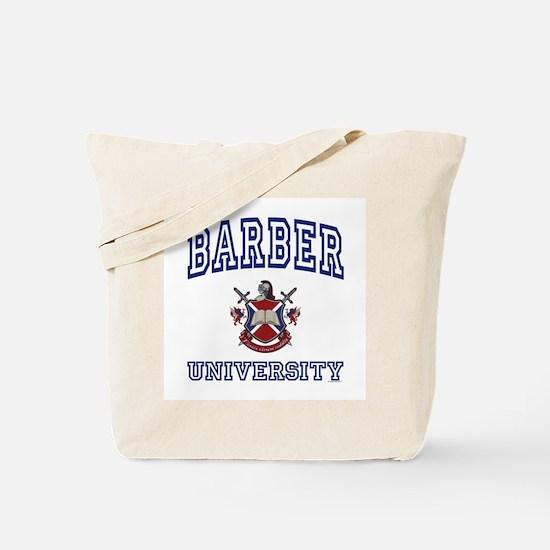 BARBER University Tote Bag