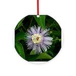 Valentine Passionflower Ornament (Round)
