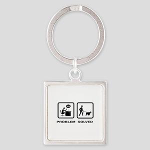 English Springer Spaniel Square Keychain
