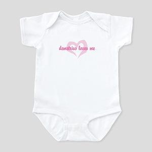 """""""demetrius loves me"""" Infant Bodysuit"""