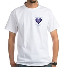 Pleiadian Purple Heart White T-Shirt