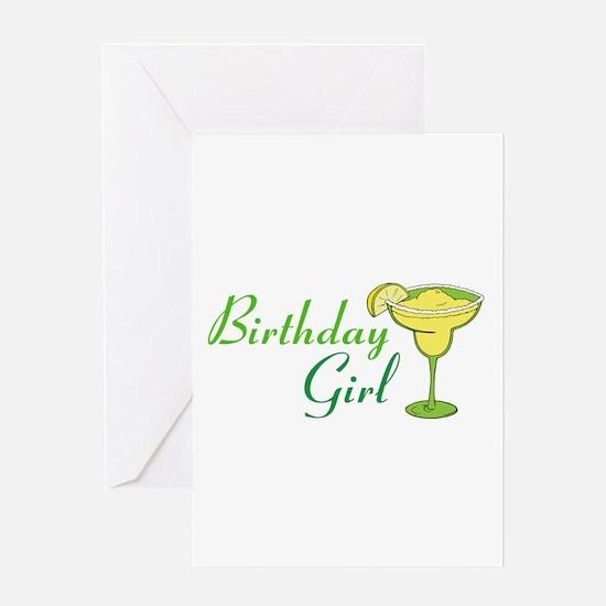 Birthday Girl margarita Greeting Cards