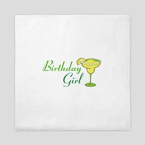 Birthday Girl margarita Queen Duvet