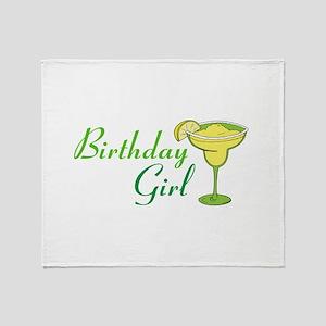 Birthday Girl margarita Throw Blanket