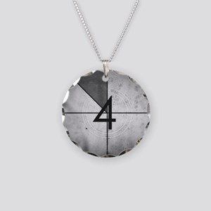 Grunge Countdown  Necklace Circle Charm