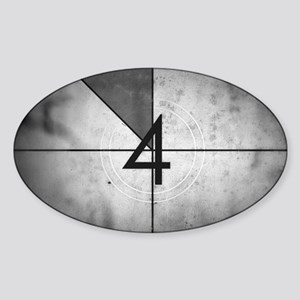 Grunge Countdown  Sticker (Oval)