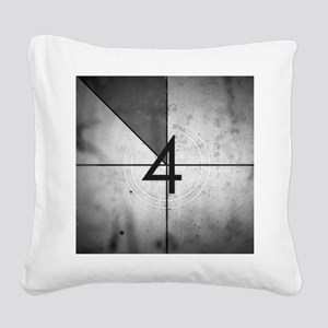 Grunge Countdown  Square Canvas Pillow