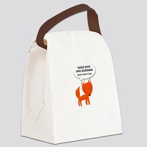 What does the fox say? Canvas Lunch Bag