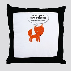 What does the fox say? Throw Pillow