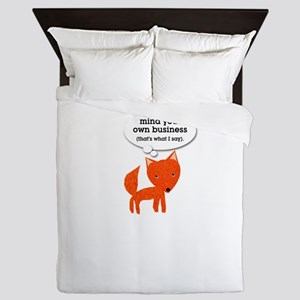 What does the fox say? Queen Duvet
