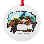 Dragon And Centaur Fairy Round Ornament