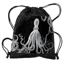 Vintage Octopus Dark Drawstring Bag