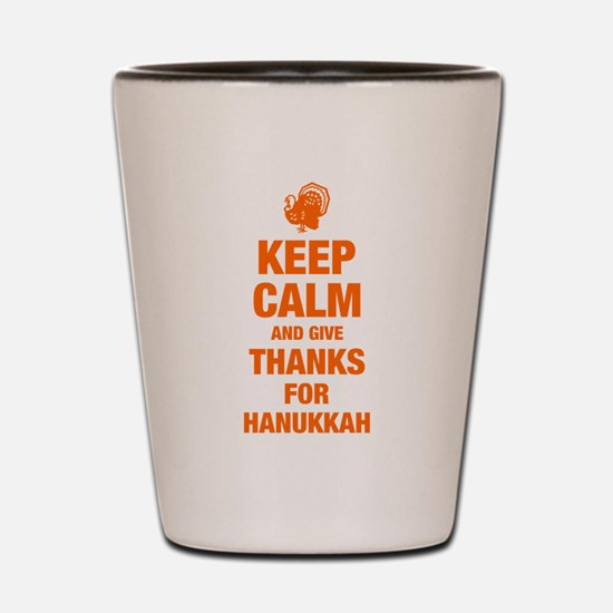 Keep Calm Hanukkah Giving Shot Glass