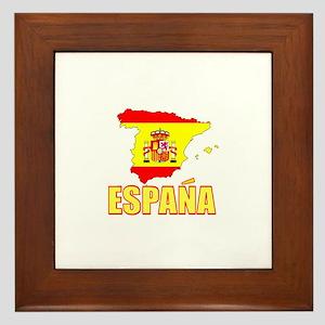 Espana Flag/Map Framed Tile