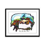 Dragon And Centaur Fairy Framed Panel Print