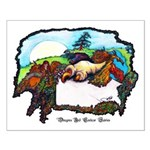 Dragon And Centaur Fairy Small Poster