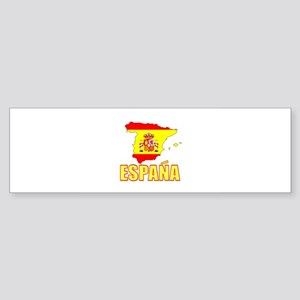Espana Flag/Map Bumper Sticker