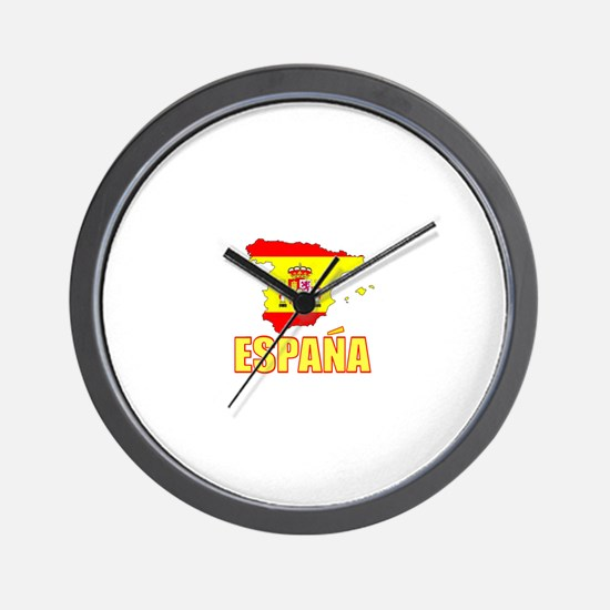 Espana Flag/Map Wall Clock