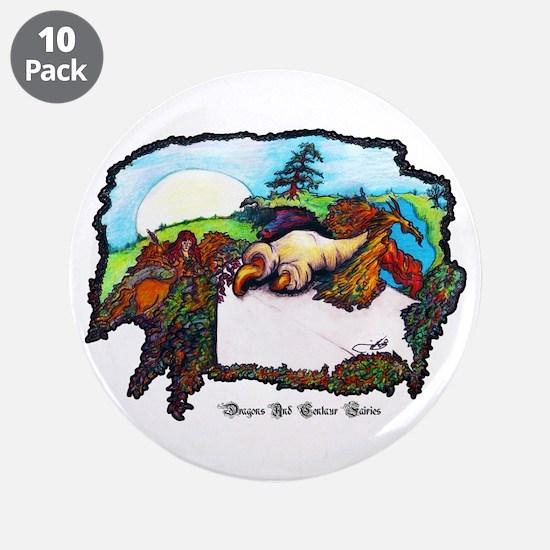 "Dragon And Centaur Fairy 3.5"" Button (10 pack)"