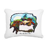 Dragon And Centaur Fairy Rectangular Canvas Pillow