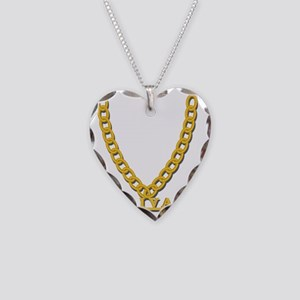 Diva Bling Necklace Heart Charm