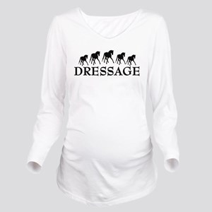 dressage horses three  Long Sleeve Maternity T