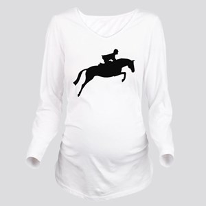 jumper rider white Long Sleeve Maternity T-Shi