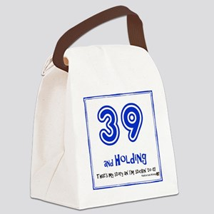 39AHC Thats My Story-Blue Canvas Lunch Bag