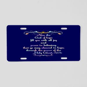 Romans 15:13 Rainbow Aluminum License Plate