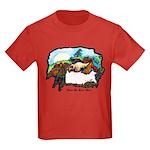 Dragon And Centaur Fairy Kids Dark T-Shirt