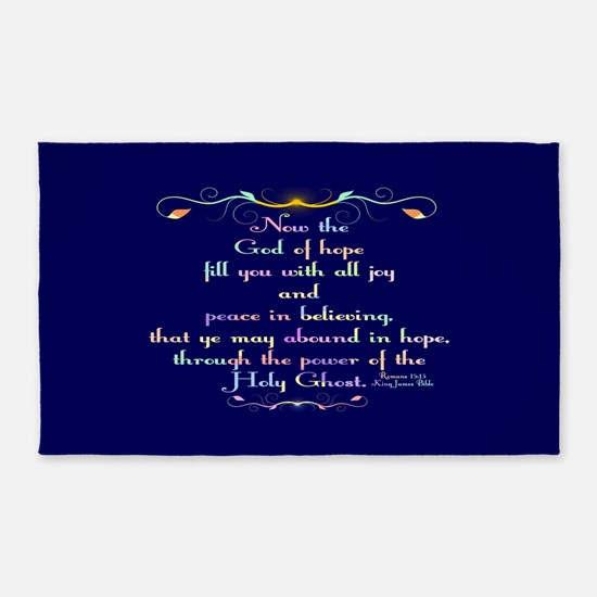 Romans 15:13 Rainbow 3'x5' Area Rug