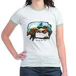 Dragon And Centaur Fairy Jr. Ringer T-Shirt