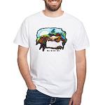 Dragon And Centaur Fairy White T-Shirt