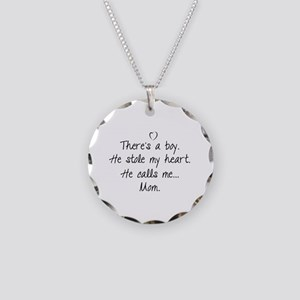 There's a boy Necklace Circle Charm