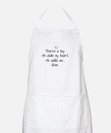 There's a boy Apron