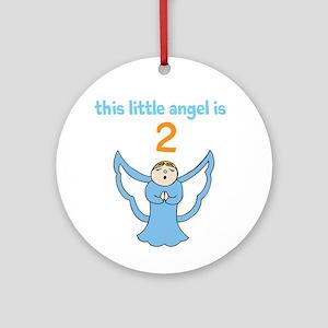 little angel custom age Ornament (Round)