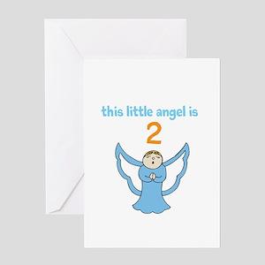 little angel custom age Greeting Cards