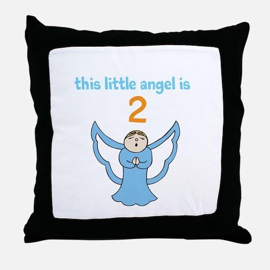 little angel custom age Throw Pillow