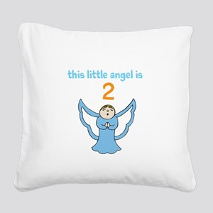 little angel custom age Square Canvas Pillow