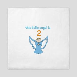 little angel custom age Queen Duvet